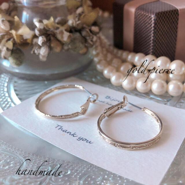 IENA(イエナ)の*新商品*  gold design loop pierce レディースのアクセサリー(ピアス)の商品写真