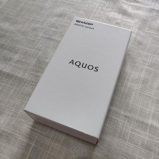 AQUOS(アクオス)の新品 SHARP AQUOS sense4 SH-M15 ブラック SIMフリー スマホ/家電/カメラのスマートフォン/携帯電話(スマートフォン本体)の商品写真