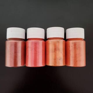 ちょこっとセット☆天然雲母 マイカパウダー 粒子 染料 顔料 オレンジ系 4色