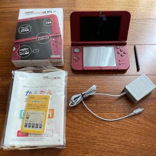ニンテンドー3DS - ☆美品☆NEW Nintendo3DS LLメタリックレッド ACアダプター付き
