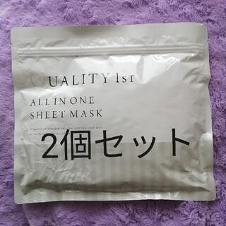 クオリティファースト(QUALITY FIRST)のクオリティファースト オールインワンシートマスク ホワイト 2個セット 30枚入(パック/フェイスマスク)