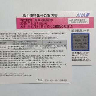 ANA(全日本空輸) - 匿名配送★ANA株主優待券 1枚 2021年11月末日まで延長