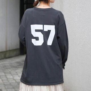 アングリッド(Ungrid)のナンバリングプリントロングスリーブtee(Tシャツ(長袖/七分))