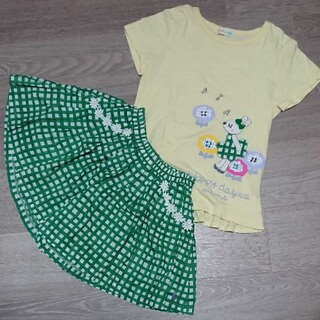 KP - KP 裾フリル Tシャツ キュロットセット 130