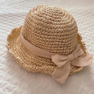 プティマイン(petit main)の麦わら帽子 48cm プティマイン(帽子)