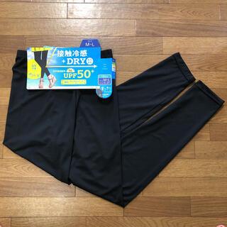 夏用レギンス 10分丈 M〜L  黒 新品 テニスにも(ウェア)