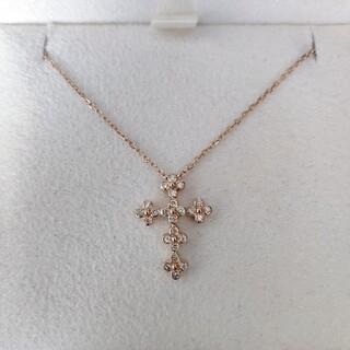 Vendome Aoyama - ヴァンドーム青山 ダイヤモンド クロス ネックレス K18PG 2.0g