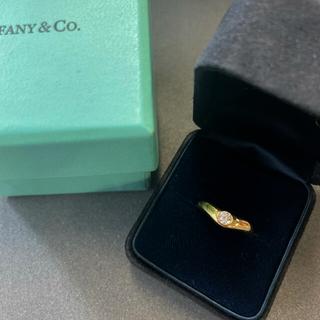 Tiffany & Co. - ティファニー カーブド1pダイヤモンドリング