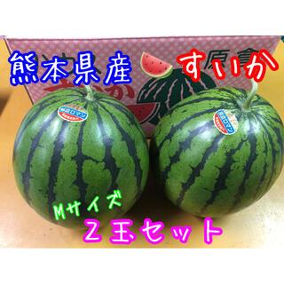 熊本県産 すいか Mサイズ2玉セット