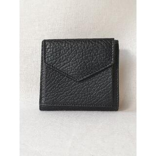 Maison Martin Margiela - 【新品・未使用】メゾン マルジェラ三つ折り財布 グレインレザー ブラック