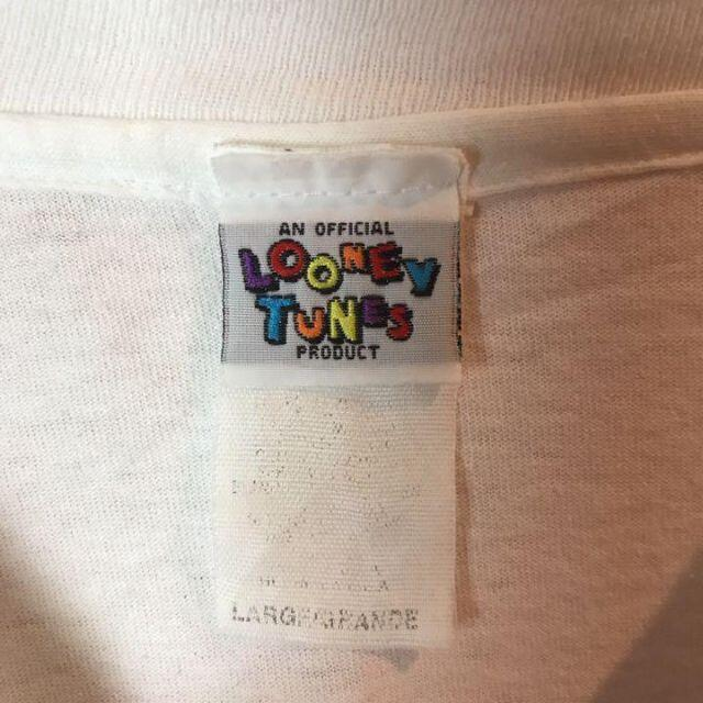 US古着ルーニーテューンズ☆キャラクタービッグプリントtシャツ メンズのトップス(Tシャツ/カットソー(半袖/袖なし))の商品写真
