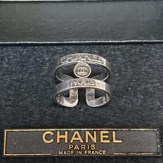 CHANEL - 本物 シャネル 指輪 アンティークシャネル シルバーリング 直営店購入