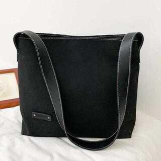【軽量 ショルダーバッグ】【ブラック】レディース カジュアル ショルダー バッグ