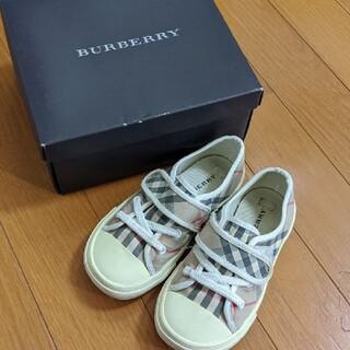 BURBERRY - BURBERRY スニーカー 16センチ