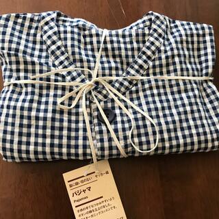 ムジルシリョウヒン(MUJI (無印良品))のMUJI 無印良品 キッズ 半袖パジャマ125-140cm ネイビーチェック(パジャマ)