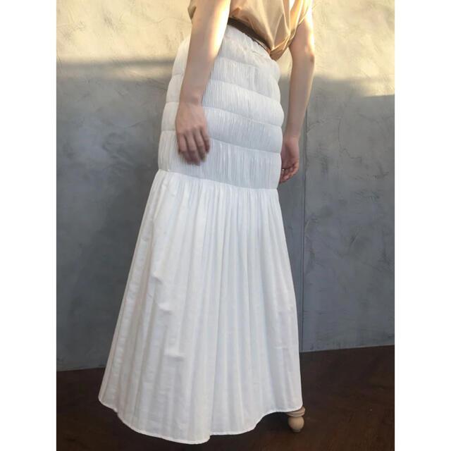 eimy istoire(エイミーイストワール)のeimyistoire デニムシャーリングマーメードスカート レディースのスカート(ロングスカート)の商品写真