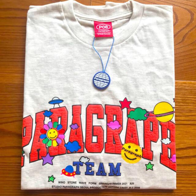 新作 paragraph SMILE HAPPYT-SHIRT コムドットゆうた メンズのトップス(Tシャツ/カットソー(半袖/袖なし))の商品写真