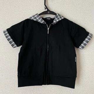 COMME CA ISM - コムサイズム Tシャツ 半袖 フード パーカー チェック 100サイズ