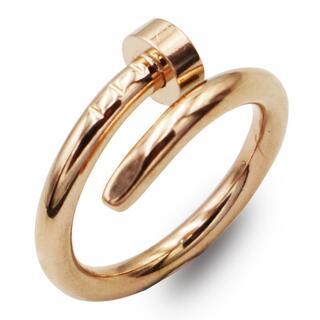 指輪 レディース リング ピンクゴールド 釘 ステンレス シンプル 高級感
