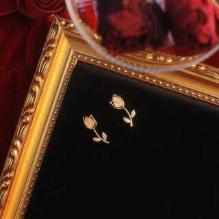 チューリップピアス レディース アクセサリー ゴールド 韓国 春 シルバー925