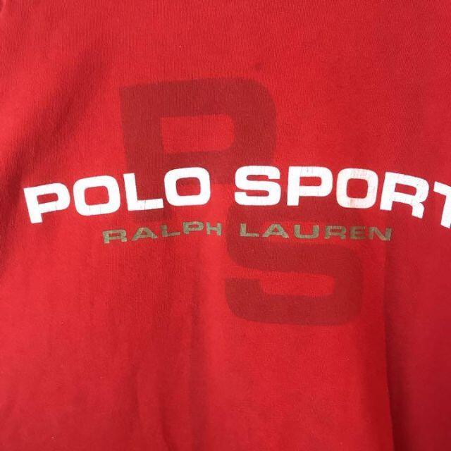 POLO RALPH LAUREN(ポロラルフローレン)のUS古着ポロスポーツラルフローレン☆ビッグロゴTシャツ90s メンズのトップス(Tシャツ/カットソー(半袖/袖なし))の商品写真