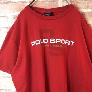 POLO RALPH LAUREN - US古着ポロスポーツラルフローレン☆ビッグロゴTシャツ90s