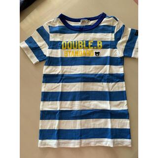 DOUBLE.B - Tシャツ 140 ダブルB ミキハウス 男の子 ボーダー