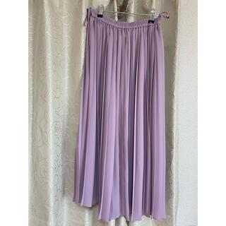 UNIQLO - くすみピンクプリーツスカート