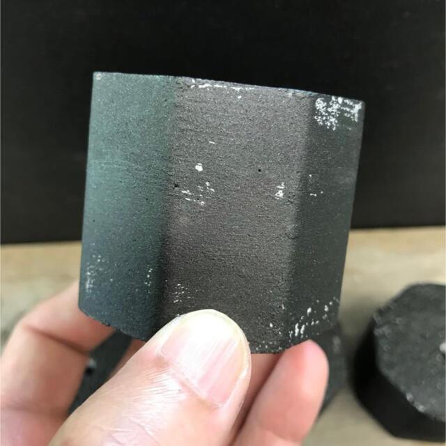 オシャレセメント鉢6点セット アイアン塗装ブラック ハンドメイドのフラワー/ガーデン(プランター)の商品写真