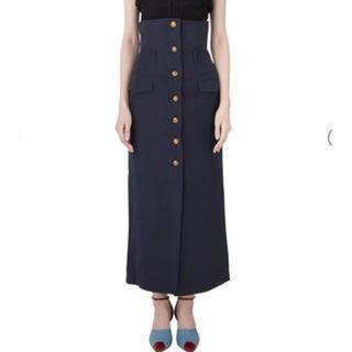 mame - mame kurogouchi マメクロゴウチハイウエストヘンプスカートサイズ2