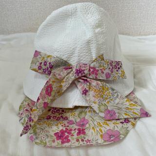 Branshes - 【新品未使用】ブランシェス 帽子 50センチ 白 日除けハット 花柄 UV