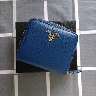 PRADA - 綺麗☆ブルー♥二つ折り財布 プラダ コインケース