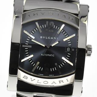 ブルガリ(BVLGARI)の☆美品  ブルガリ アショーマ デイト AA48S 自動巻き メンズ 【中古】(腕時計(アナログ))