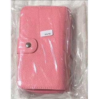 iPhone - 新品 iPhoneケース 手帳型 財布付き レザー調 ピンク