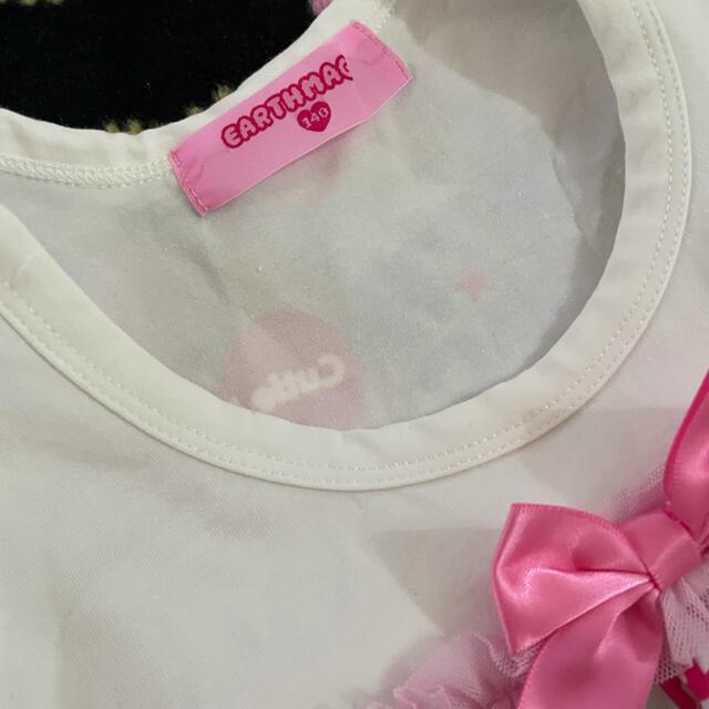 EARTHMAGIC(アースマジック)の⑬チュニック💗 キッズ/ベビー/マタニティのキッズ服女の子用(90cm~)(Tシャツ/カットソー)の商品写真