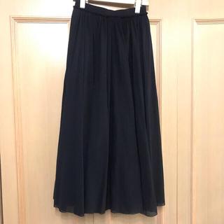 Jil Sander - 美品 JIL SANDERジルサンダー  ロング・マキシ丈スカート 黒