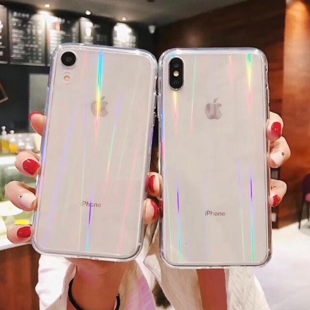 【iPhone12mini】iPhoneケース 透明 オーロラ クリア おしゃれ スマホ/家電/カメラのスマホアクセサリー(iPhoneケース)の商品写真