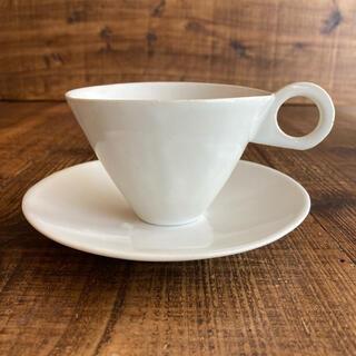 安藤雅信 イギリスコーヒー カップ&ソーサー M 青白艶 新品・未使用品
