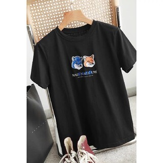 MAISON KITSUNE' - ADER x Maison Kitsuneキツネの頭が刺繍された tシャツA1