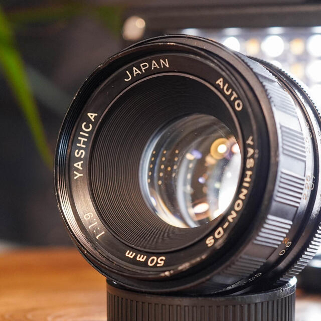 京セラ(キョウセラ)の【希少良品】Auto Yashinon DS 50mm f1.9 玉ボケレンズ スマホ/家電/カメラのカメラ(レンズ(単焦点))の商品写真