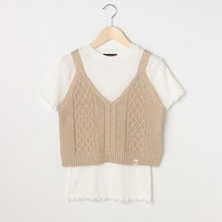 lovetoxic - Lovetoxic ニットビスチェ半袖Tシャツセット 160cm
