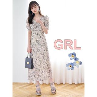 GRL - 【週末限定価格】完売💙 花柄バックリボンVネックワンピース