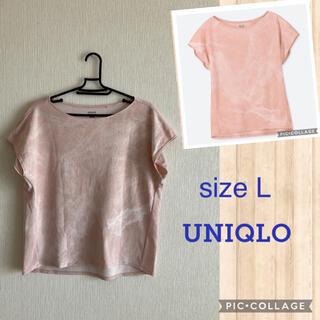 UNIQLO - UNIQLO☆スポーツTシャツ ピンク L