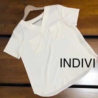 インディヴィ(INDIVI)のINDIVI とろみブラウス(シャツ/ブラウス(半袖/袖なし))