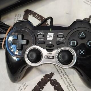 PlayStation3 - 【動作品】PS3 USB連射コントローラー ホリパッド3ターボ 有線3m 黒