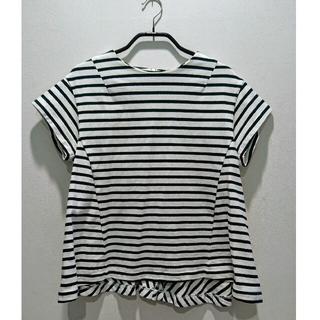 sacai - ♡yori♡ペプラム ボーダーTシャツ 日本製