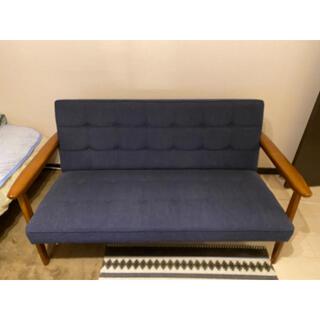 カリモクカグ(カリモク家具)のカリモク60Kチェア2シーター タープブルー(二人掛けソファ)