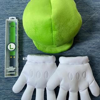 USJ - USJ 公式 ルイージ 帽子 手袋 パワーアップバンド セット