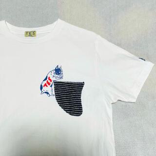 Ron Herman - TES エンドレスサマー パイルフィンポケット付 BUHIプリントTシャツ L