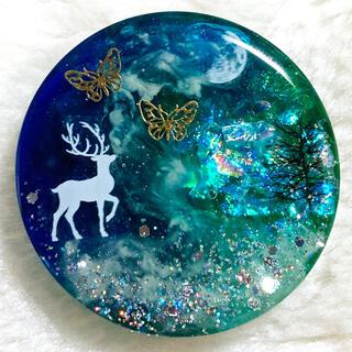 ヘアゴム 月と星空129 Deep Forest